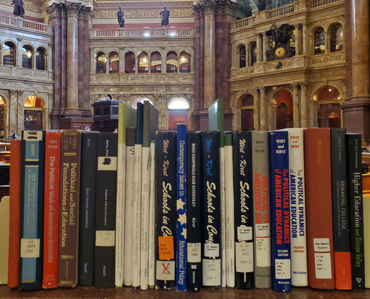 Michael Kirst's Book Collection in the Library of Congress