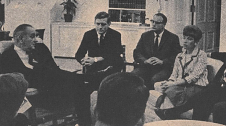 White House Fellows Mike Kirst President Lyndon Johnson Oval Office White House