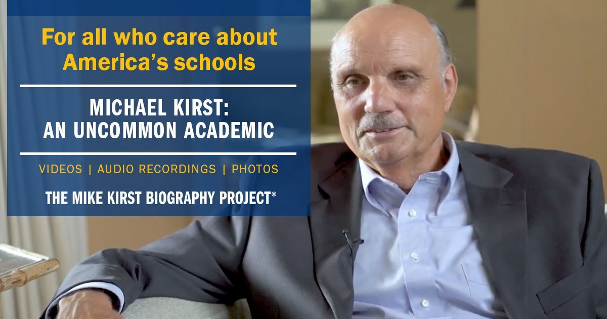 The Mike Kirst Biography Project Banner