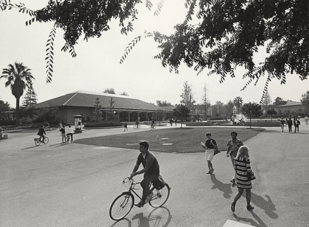 Stanford Campus circa 1968 Close to Cubberly Hall