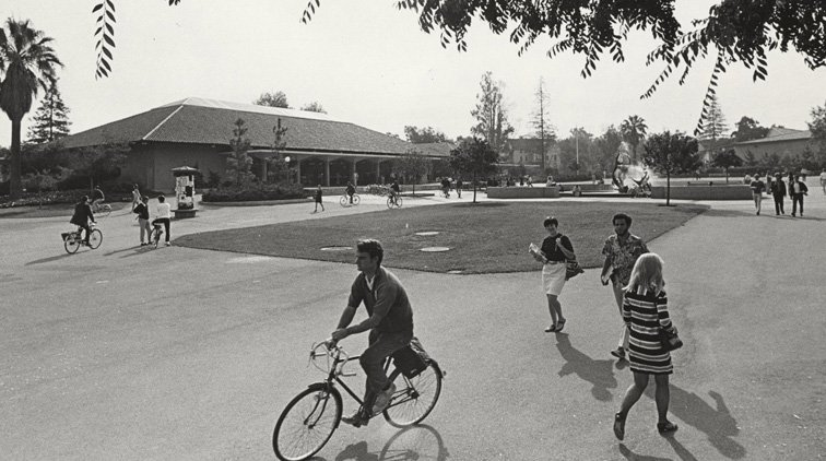 Stanford University Students and Bikes